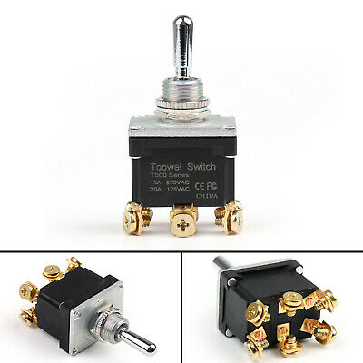 Waterproof Rocker Toggle Switch (ON)-OFF-(ON) DP3T 6Pin Industrial Grade Car CA