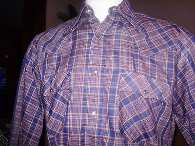 VINTAGE LEVIS  PEARL SNAP WESTERN SHIRT made in USA large