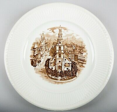 Wedgwood Old London Views (Edme) St. Clement Danes Dinner Plate Made in England
