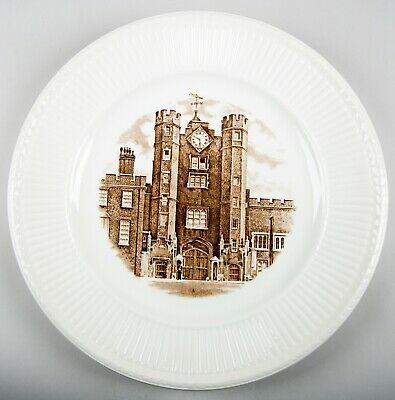 Wedgwood Old London Views (Edme) St. James's Palace Dinner Plate Made in England