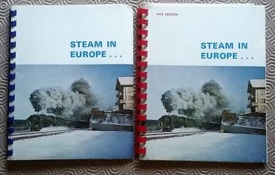 Lot of 2 x Steam in Europe Booklets 1971 1973 Depots & Allocations