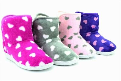 Slippers Girls Warm Indoor Slipper Boots Kids Booties Size 13 1 2