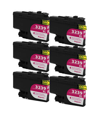 6 Magenta Compatible Ink Cartridges, For Brother LC3239XLM, LC3239XLM, NON-OEM