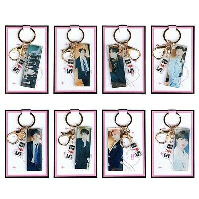 Kpop BTS Key Holder JIMIN V SUGA JUNGKOOK Double-sided Key Ring Figure Keychain