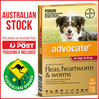 Advocate Flea & Worm Control for Dogs 10-25kg 6 Pack
