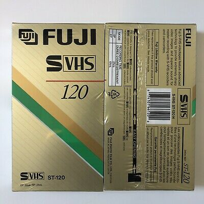 LOT of 2 FUJI PREMIUM S-VHS BLANK SVHS ST-120 Video Tapes! ALL NEW/SEALED!! NEW