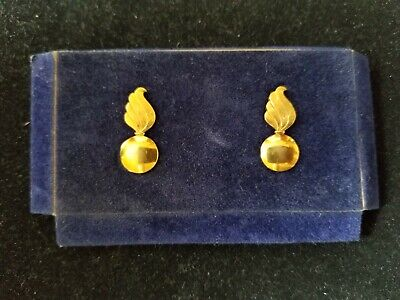 """Vintage Balfour Signed WWII Era """"Flaming Bomb"""" Pins 10k Yellow Gold Filled 1/20"""
