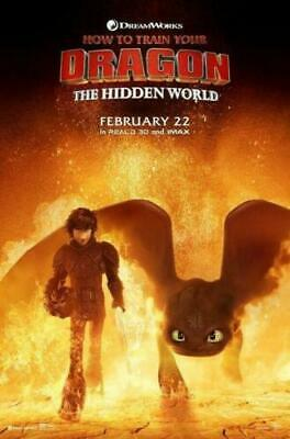 How to Train Your Dragon 3 The Hidden World Movie Art Silk Poster 12x18 24x36
