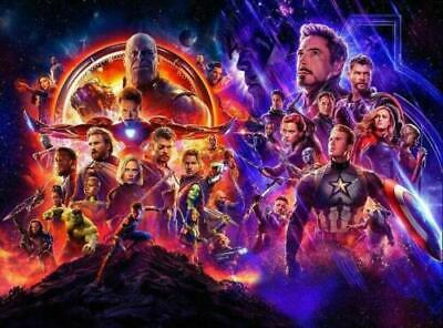 Avengers Infinity War End Game Art Silk Poster 12x18 24x36