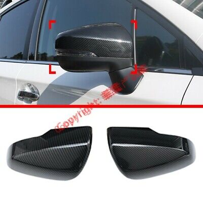 Carbon Fiber Style Side Mirror Cover Trim For Subaru Forester SK 2018 2019