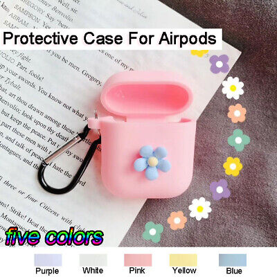 Cute Flower Soft Silicone Earphone Case Protective Cover Skin For Apple AirPods