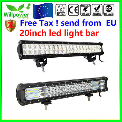 20inch 126/288W Led Work Light Bar for Off road Truck SUV Car JEEP Flood Spot