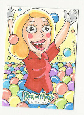 Rick and Morty Season 2 2019 Cryptozoic Sketch Card by Alfret Le 1/1