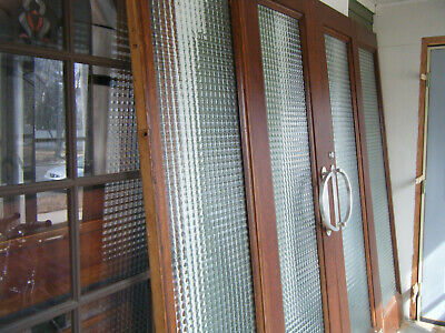 Vintage MANSION French DOORS With 2 SIDELIGHTS (4 Piece Set) Art Deco Style