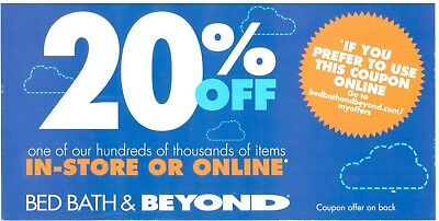30 x Bed Bath & Beyond 20% off Online or In Store BBB Coupons