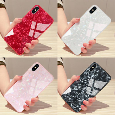 Luxury Marble Tempered Glass Hard Phone Case For IPhone X XS MAX XR 8 7 6s plus
