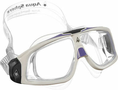 Aqua Sphere Seal 2.0 Ladies Swimming Goggles & Masks Clear Lens White / Lavender