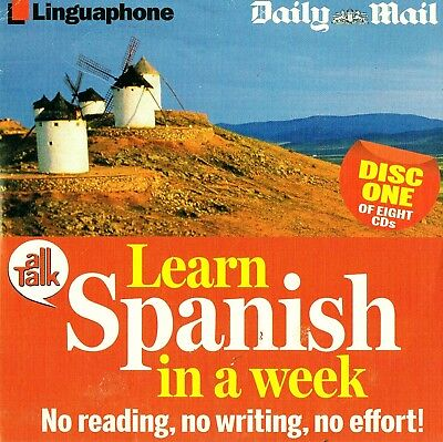 Learn Spanish In A Week Discs 1 - 8  -  Audio Book CD N/P