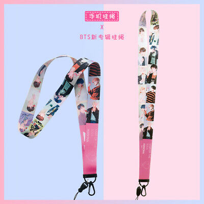 Kpop New BTS Map of The Soul: Persona Phone Strap Necklace Lanyard Keychains