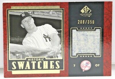 2003 Mickey Mantle Sp Legendary Cuts Historic Swatches Game Used Pants Yankees