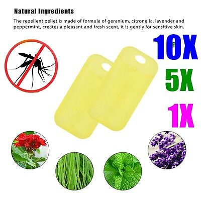 Natural Plant Refill Repellent Anti Mosquito Wrist Band Bracelet Repeller Insect