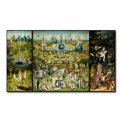 The Garden Of Earthly Delights HIERONYMUS BOSCH Art Silk Poster 12x18 24x36