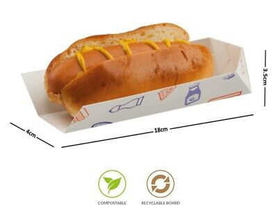"Supa Snax - Disposable Open End Tray Box Sleeves 7"" / Hot Dog Baguettes Corn Cob"
