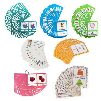 LETTERS COGNITIVE FLASH Cards Kids Educational Toy Sight Word