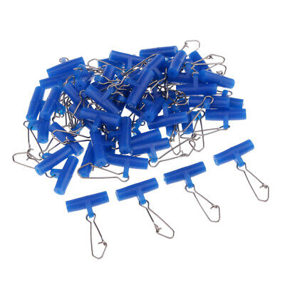 50Pcs Plastic Head + Nice/Hooked Snap Interlock Zip Slider Fishing Connector