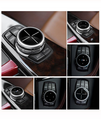Genuine Car Multimedia Buttons Cover Knob For BMW 1 2 3 5 7 Series X1 X3 X5 X7