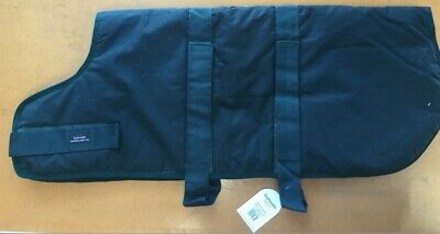 """NEW Outhwaite Quality Wax Padded Dog Coat Waterproof Breathable Dark Green 30"""""""