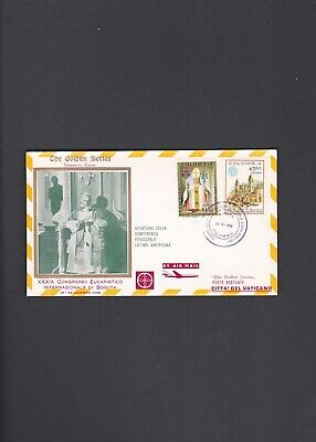 Colombia First Flight Cover Bogota to Vatican City 1968