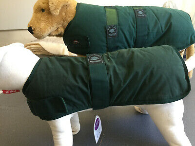Outhwaite Quality Wax Padded Dog Coat Waterproof Breathable Dark Green