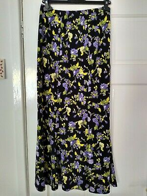 a9b33885a9 Kim And Co/Qvc Maxi Skirt With Elasticated Waistband Size Medium. Black  Multi