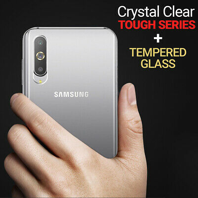 CLEAR Case for Samsung Galaxy A40 A50 A70 Shockproof Slim Gel Cover Silicone