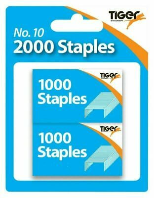 Pack of 2000 No 10 Staples Pins for Stapler Number No10 Clip Home Office Mini