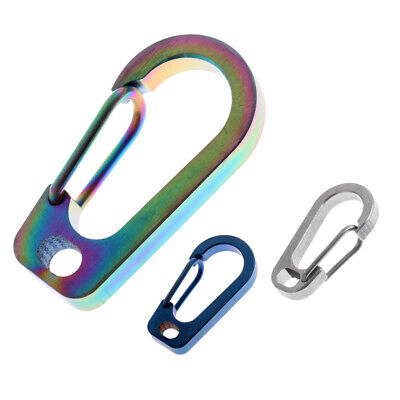 3x Camping Outdoor Titanium Alloy D-Ring Carabiner Clip Hook Key Chain Hook
