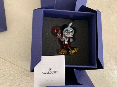 Swarovski Mickey Mouse Christmas Ornament Crystal Decoration 5412847 NEW
