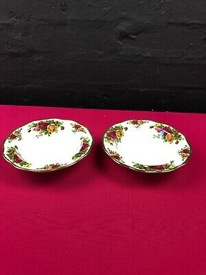 """2 x Royal Albert Old Country Roses Rimmed Bowls 6.5"""""""