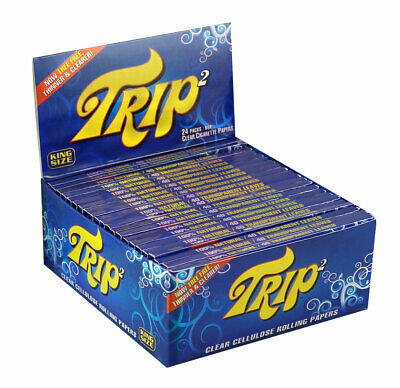 24pc Display - Trip 2 Clear Rolling Papers - Kingsize