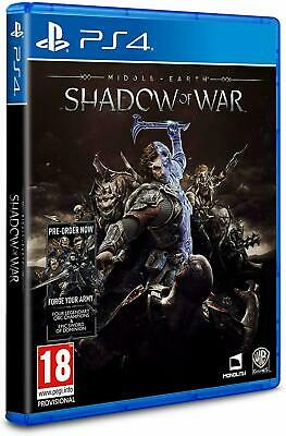 Middle-earth: Shadow of War (PS4 PLAYSTATION 4 VIDEO GAME) *NEW/SEALED* FREE P&P
