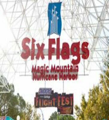 Lot of 2 Gold Season Passes for 2019 Six Flags Magic Mountain and Free Parking