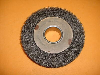 Anderson Brush Wide Wire Wheel # 02354 8 In D X 1 5/8 In W, .02 In Carbon Steel