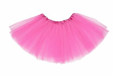 Pink Ladies Tutu Skirt 80S Neon Fancy Dress Dance Costume Ballet Hen Party Girl