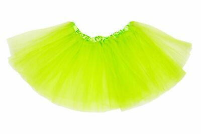 Green Ladies Tutu Skirt 80S Neon Fancy Dress Dance Costume Ballet Hen Party Girl