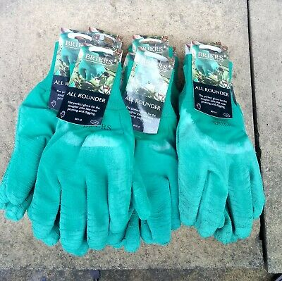 Briers Men All Rounder Thorn Resistant Garden Gloves,L.size 9 Job Lot x 4 PAIRS