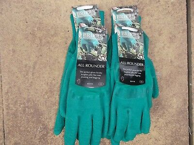 Briers Ladies All Rounder Thorn Resistant Gloves, Small Job Lot x 4 pairs  Green