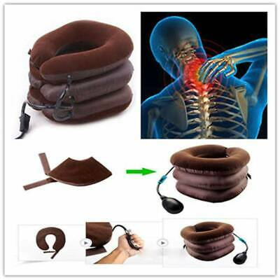 US Air Inflatable Pillow Cervical Neck Head Pain Traction Support Brace Health