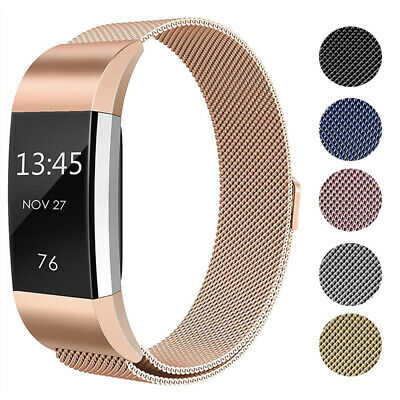 Für Fitbit Charge 2  Magnetic Milanese Stainless Uhrenarmband Ersatz Strap