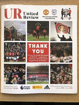 Manchester United v Cardiff City Official Matchday Programme 12/5/19